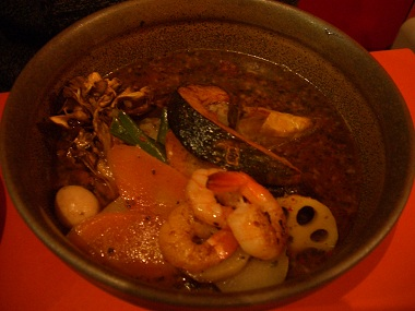 voyage prawn soup curry