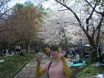 drinking in the park in golden week