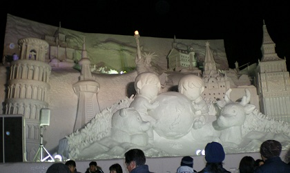 sapporo snow festival big sculpture