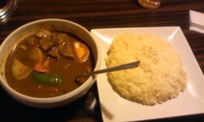 shorin soup curry lamb dish