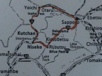 snowcam-map by car to niseko