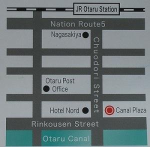 map of Otaru Canal area