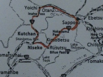 snowcam-map by car to niseko