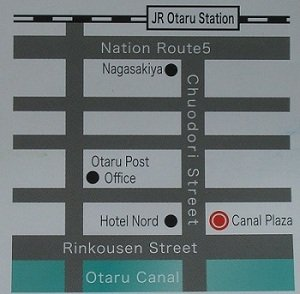 map of Otaru Canal area